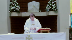 Stock Video Footage of Eucharist - ''This is my body.''