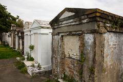 New orleans - above ground cemetery Stock Photos