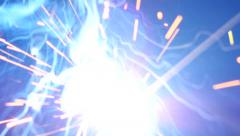 Stock Footage Bright Welding Sparks Slow Motion Stock Footage