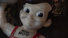 Bob's Big Boy food chain icon Stock Footage