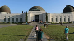 Griffith Park Observatory Time Lapse Zoom Stock Footage