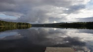 Stock Video Footage of Summer lake -pan from jetty to slide