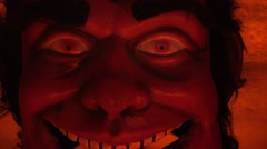 Devil ,bad and evil mask Stock Footage