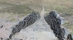 Peru Sacsayhuamán steps  Stock Footage