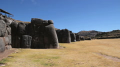 Peru Sacsayhuaman walls of enormous stacked stones 7 Stock Footage
