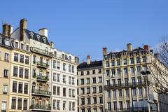 old european buildings - stock photo