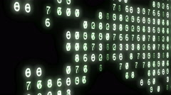 World map made from changing numbers. Stock Footage