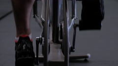 Male Crossfit Athlete on Exercise Bike - stock footage