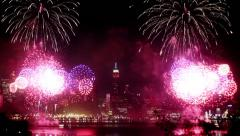 Fireworks at New York City Stock Footage
