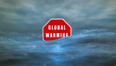 Global Warming Sign Climate Change HD Stock Footage