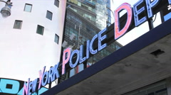 New York Police Department NYPD Times Square Stock Footage