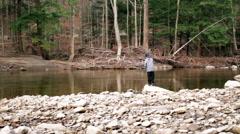 Boy Fishing HD - stock footage