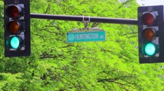 Huntington Ave Stock Footage