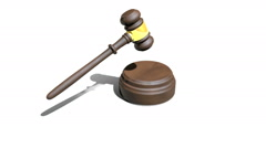 NEW Judge Gavel Auction Hammer With Sound HD Stock Footage