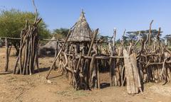 Traditional tsemay houses. omo valley. ethiopia. Kuvituskuvat
