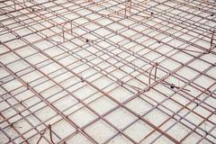 mesh reinforcement cage, reinforcement plates - stock photo