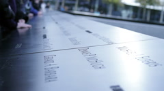 911 Nine Eleven Names Memorial Plaza View HD Stock Footage