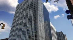 Modern Generic Office Building Establishing Shot Stock Footage