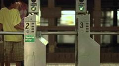MTA Subway Train Station New York NYC USA 4K Arkistovideo