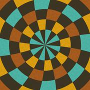 Wallpaper in concentric circular composition in retro colors Stock Illustration