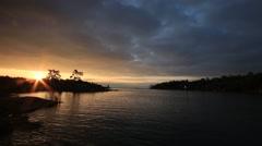 Georgian Bay Sunrise Stock Footage