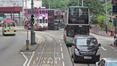 Busy Traffic in Hong Kong - stock footage