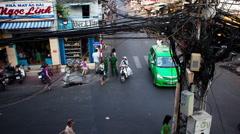 Timelapse - Pham Ngu Lao  - Saigon - Vietnam Stock Footage
