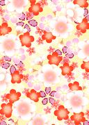 Oriental background with apricot blossom Stock Illustration