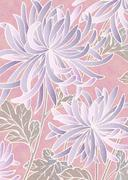 Stock Illustration of Oriental background with chrysanthemum