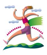 Woman, jogging Stock Illustration