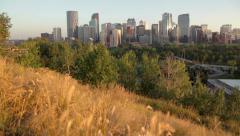 Calgary Downtown Quick Crane Shot Stock Footage