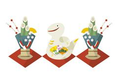 Year of the Snake - stock illustration