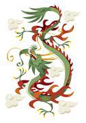 Dragon - stock illustration