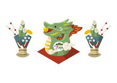 Year of the Dragon - stock illustration