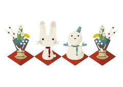 Year of the Rabbit - stock illustration
