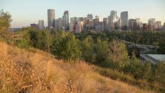 Calgary Sunset Crane Shot Stock Footage