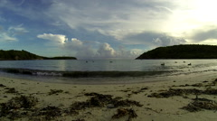 Birds enjoy the view of the Virgin Islands from the water Stock Footage
