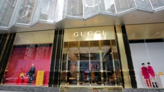 Gucci store - stock footage