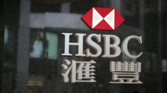 HSBC logo Stock Footage