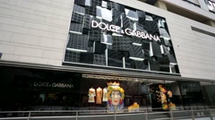 Dolce & Gabbana store Stock Footage