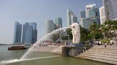 Singapore Merlion. Stock Footage