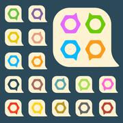 Set of colored icons to indicate the empty space - stock illustration