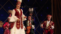 CULTURAL PERFORMANCE KAZAKH NATIONAL THEATRE  Stock Footage