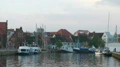 Wismar harbour, Mecklenburg Western Pomerania, Germany Stock Footage