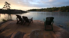 Cottage Country Sunrise Stock Footage