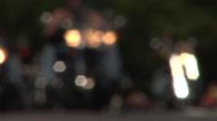 Rack focus Rolling Thunder bikers Stock Footage