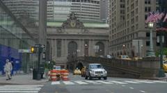 NYC 4K Grand  Centeral facade 25P Stock Footage