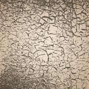 Simple vector background of old cracked paint Stock Illustration