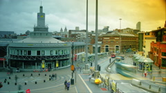 Queen Square is located in the heart of Liverpool City Centre,time lapse, 4k, - stock footage