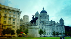 Port Authority Building at Liverpool Pier head. Stock Footage